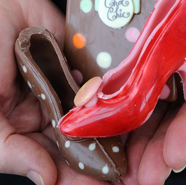 A cake-maker has combined chocolate and shoes to make the ideal edible mother's day present