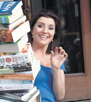 TV presenter Colette Fitzpatrick launching the Eason Book Club at the Gresham Hotel in Dublin yesterday.