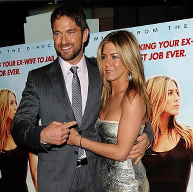 Gerard Butler and Jennifer Aniston at the premiere of The Bounty Hunter