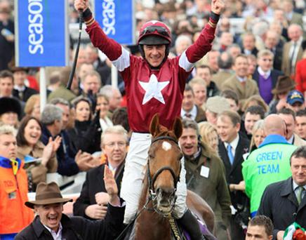 Michael O'Leary owned Weapons Amnesty winner of the RSA Chase Photo: PA