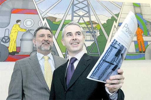 At the launch were Paul Hennessy (left), partner in PwC, and Cathal Marley, group financial controller, ESB