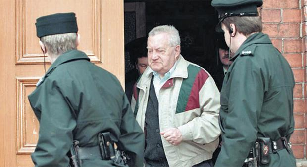 Paedophile priest Brendan Smyth leaving Limavady Courthouse in 1997. Smyth was treated numerous times by psychiatrists - all before 1975