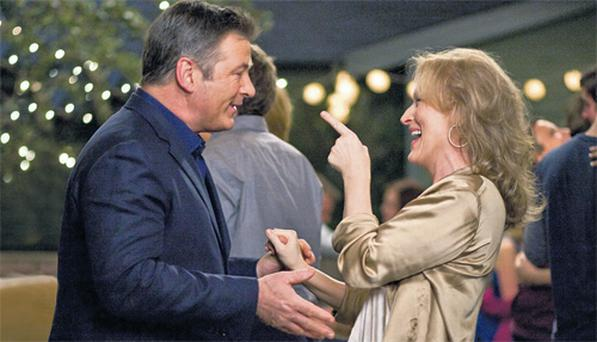 Golden oldies: Meryl Streep and Alec Baldwin in 'It's Complicated'