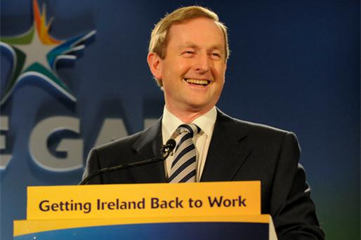 MAN WITH A PLAN: Fine Gael leader Enda Kenny at the conference