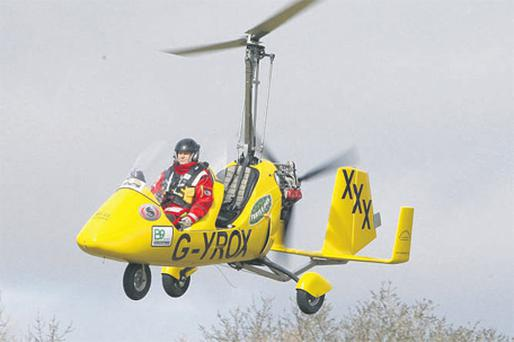 Norman Surplus hopes to fly around the world in a flimsy gyrocopter