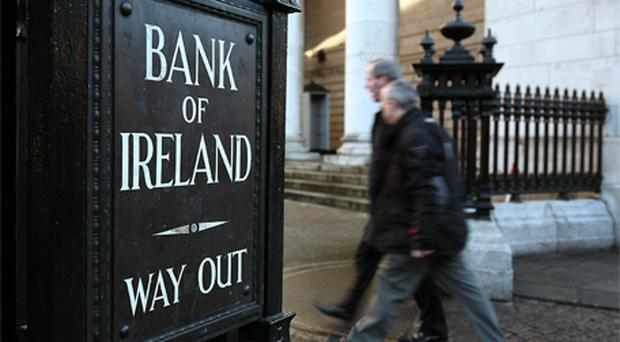 Bank of Ireland: loan transfer to NAMA reduced. Photo: Bloomberg News