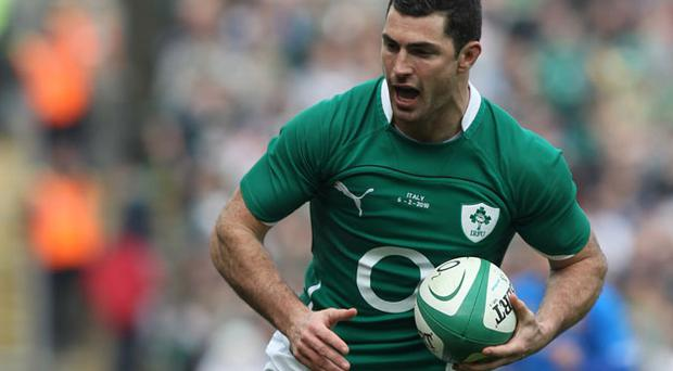 'But, the biggest disappointment of all has been Rob Kearney. It all began with a blockdown of a lazy clearing kick against the Italians which, followed by injury culminated in Geordan Murphy deservedly taking control at No 15'. Photo: Getty Images