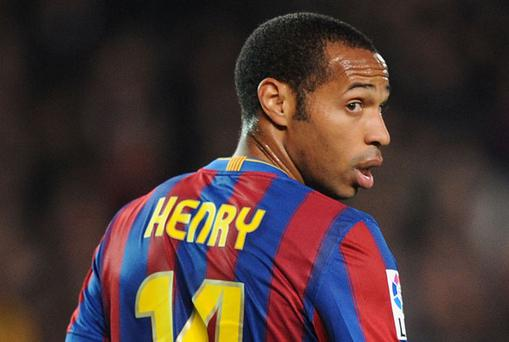 Thierry Henry says he shuddered when Barcelona was drawn against his former side. Photo: Getty Images