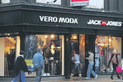 The Jack & Jones and Vera Moda shops on Clanbrassil Street, Dundalk