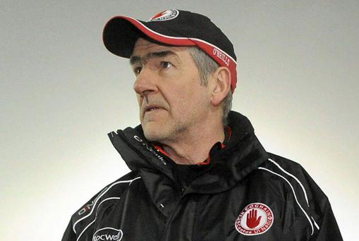 With two rounds of the National Football League remaining Tyrone boss Mickey Harte is facing a difficult battle to avoid relegation with games against Kerry and Dublin next on the cards