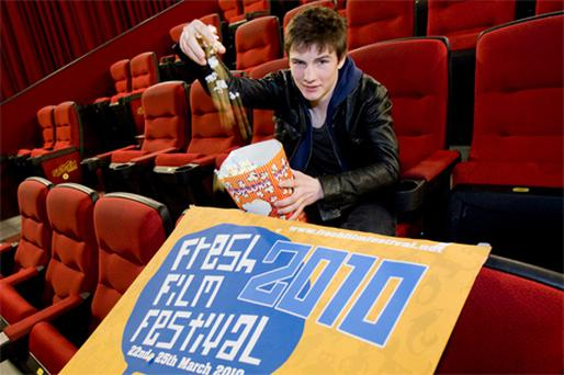 Sean Conroy, from Dublin, at Ireland's Young Film-maker Awards 2010 in Storm Cinemas, Limerick yesterday