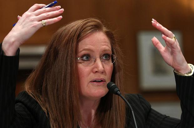 Christine Jones, Go Daddy's executive vice president, told the committee that the company was 'concerned for the security of individuals'. Photo: Getty Images
