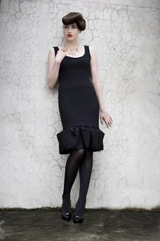 This ruffle hem dress by Kate and Ava is an example of what will be available at the D4 designer sale