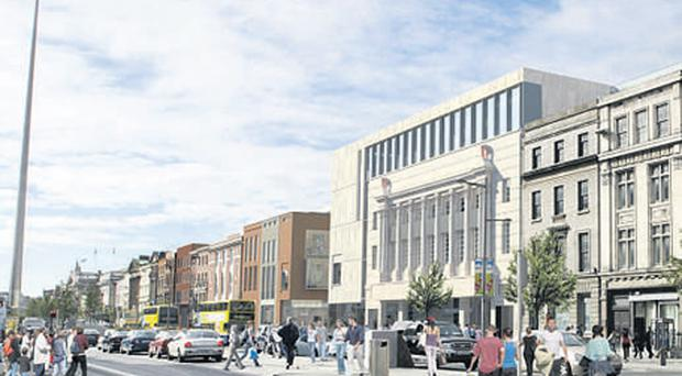 An artist's impression of the new development plan for the Carlton Cinema on O'Connell Street in Dublin, which has been approved
