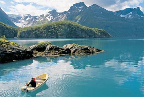 The fjords of the Lofoten Islands offer spectacular scenery
