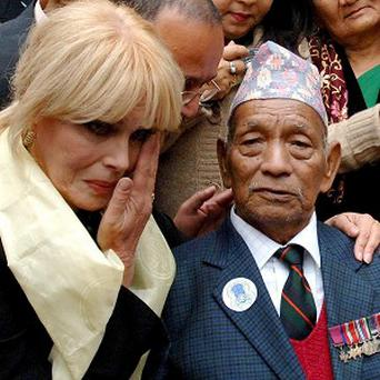 Joanna Lumley has hit out at what she claimed was a Government smear campaign over Gurkhas' rights