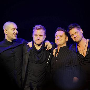 Boyzone knocked Lady Gaga off top spot in the album charts