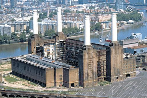 The iconic Battersea Power Station in London