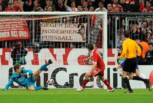 Ivaca Olic scored the winner for Bayern with practically the last kick of the game. Photo: Getty Images