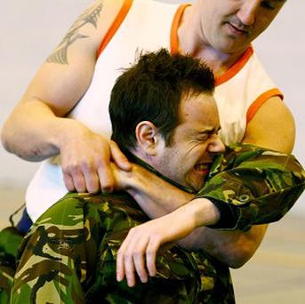 Danny Dyer was put through his paces by military training instructors