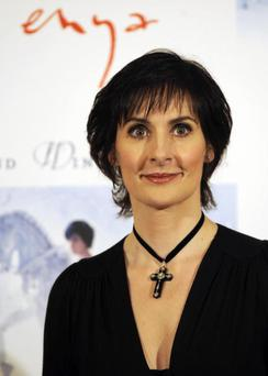 Irish singer Enya poses on November 7, 2008 in Madrid during the presentation to the press of her new record
