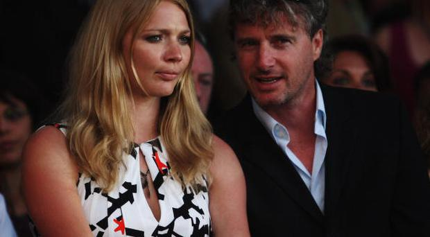 MONTE CARLO, MONACO - MAY 23: Model Jodie Kidd and former F1 driver Eddie Irvine attend the Amber Fashion Show and Auction held at the Meridien Beach Plaza on May 23, 2008 in Monte Carlo, Monaco. (Photo by Mark Thompson/Getty Images)