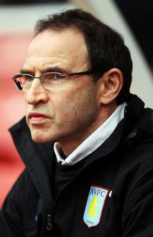 STOKE ON TRENT, ENGLAND - MARCH 13: Aston Villa Manager Martin O'Neill looks on at the start of the Barclays Premier League match between Stoke City and Aston Villa at Britannia Stadium on March 13th, 2010 in Stoke on Trent, England. (Photo by Bryn Lennon/Getty Images)