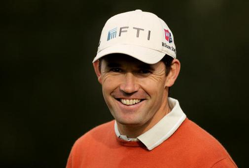 PEBBLE BEACH, CA - FEBRUARY 11: Padraig Harrington of Ireland in action during the first round of the AT&T Pebble Beach National Pro-Am at at the Spyglass Hill Golf Course on February 11, 2010 in Pebble Beach, California. (Photo by Ezra Shaw/Getty Images)