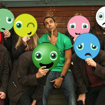 Marvin Humes told teenagers how he copes when he's feeling down