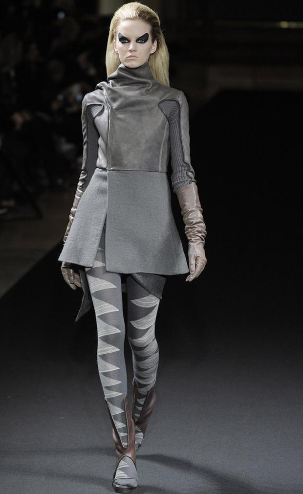 The future warrior trend as seen during Rick Owens show during Paris Fashion Week. Photo: Getty Images