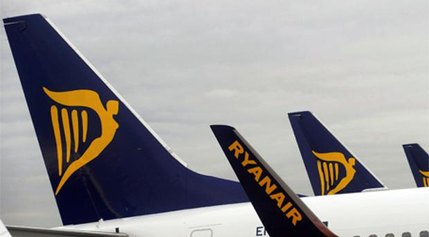 Shares in Ryanair have jumped to a two-year high. Photo Bloomberg News