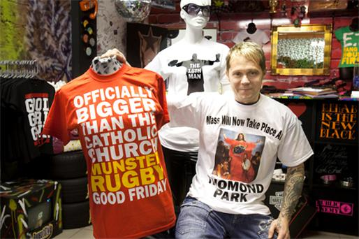 The lifting of the ban on pub opening on Good Friday is reflected in these T-shirts, which went on the market after last week's court decision