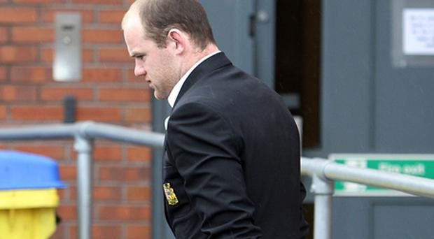 Wayne Rooney leaves The Bridgewater Hospital. Photo: Getty Images