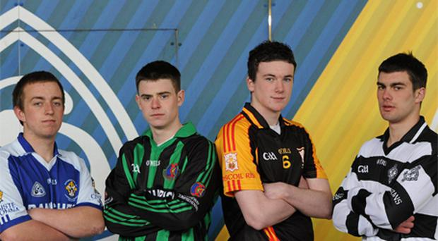 Paul Lobey (Banagher College), Tommy Maunsell (Causeway Comprehensive), Declan Hannon (Ardscoil Rís) and James Gannon (St Kieran's), who will captain their respective teams at Semple Stadium this afternoon