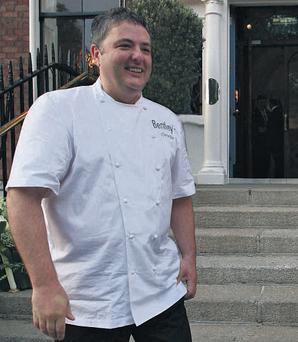Celebrity chef Richard Corrigan pictured outside Bentley's Oyster Bar & Grill