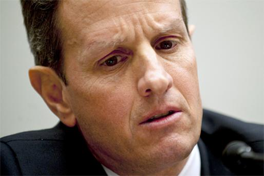 Tim Geithner faces demands from congress to label China a 'currency manipulator'. Photo: Bloomberg News