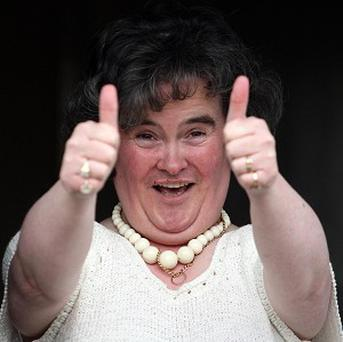 Susan Boyle was thrilled with the early birthday surprise