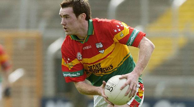 Thomas Walsh in the jersey of native Carlow, which he has agreed to wear again, in 2006.