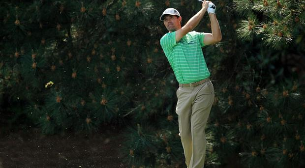 Padraig Harrington during the Par 3 contest at Augusta. Photo: Getty Images