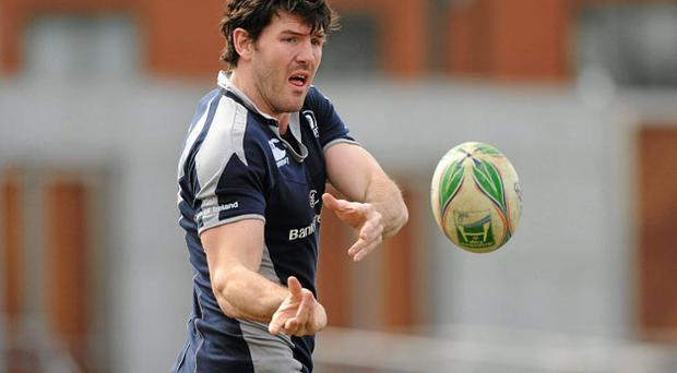 Leinster's Shane Horgan goes through his paces prior to tonight's game against Clermont Auvergne STEPHEN MCCARTHY/SPORTSFILE