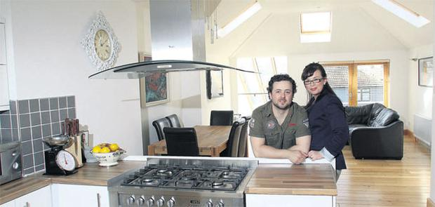 Julie-Ann and Leonard Harrison in their extensively renovated Dublin home.