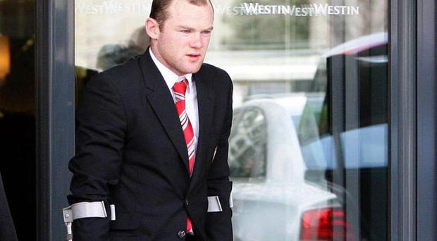 Wayne Rooney has been ruled out for Saturday's game against Blackburn. Photo: PA