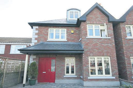 Semi-detached home on three floors