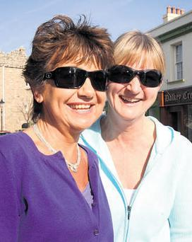 DALKEY GIRLS: From left, Mary Barry and Catherine Crothers