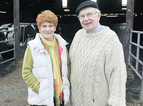 RELIEF: Kerry farmer Mary Flaherty and her husband Dan have celebrated Eamon Ó Cuiv's about-turn on pensions for farmers' wives.