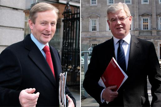 Any coalition government formed by Enda Kenny and Eamon Gilmore would need to resist 'government by weathervane'