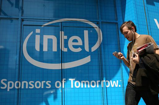 The Intel forecast follows record first-quarter sales, fuelled by consumers ordering laptops. Photo: Getty Images