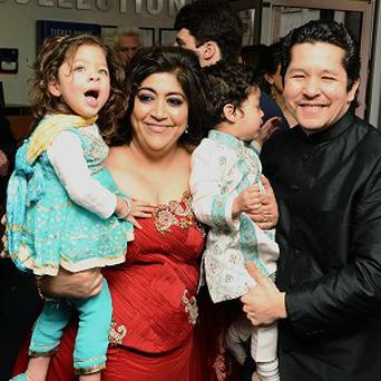 Gurinder Chadha took her twins to the premiere