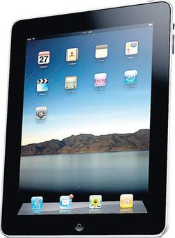 iPad A cross between a smartphone and a laptop - and much more besides - the iPad was described by Steve Jobs as a technological