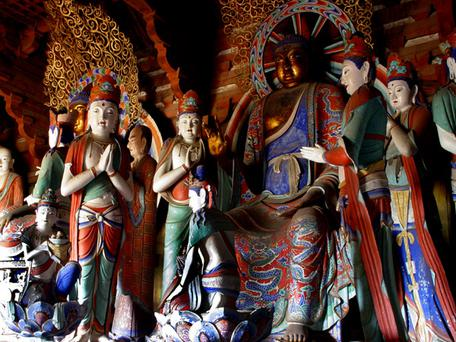 Colored Statue, Foguang Temple China. © UNESCO/Liu Hao
